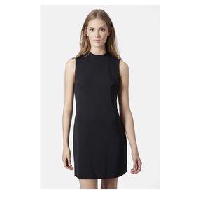 NWT Topshop Black High Neck Shift Dress, 6
